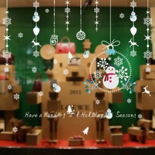 【JB 時尚壁貼】聖誕小雪人吊飾