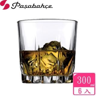 【Pasabahce】鑽紋底玻璃威士忌杯300cc(6入組)