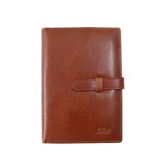 【Sika】義大利時尚牛皮護照夾(A8218-01原味褐)