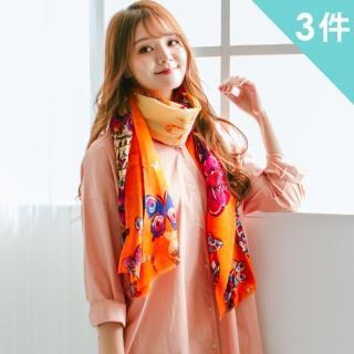 【Wonderland】時尚風華100%純羊毛百搭披肩(3件組)