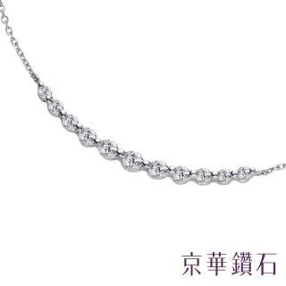 【Emperor Diamond 京華鑽石】鑽石項鍊 18K白 純真 0.50克拉(微笑項鍊)