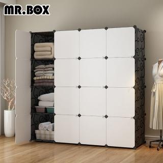 ★防疫囤貨 換季收納必備★【Mr.Box】加大型16格16門收納櫃/置物櫃/書櫃