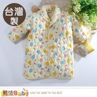 【魔法Baby】嬰幼兒長袍 台灣製鋪棉厚款極暖長袖睡袍(k60783)