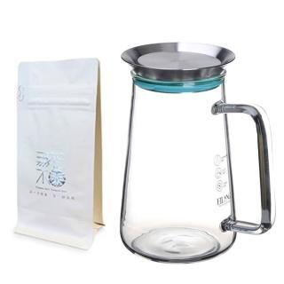 【無藏茗茶】茶覺360玻璃壺+選品茶(650ml茶壺+九款原葉茶款任選)