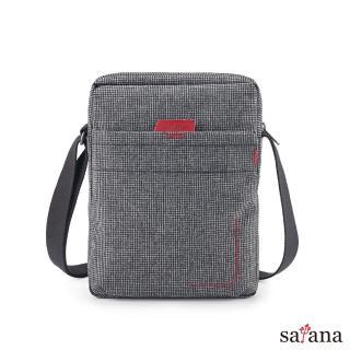【satana】Fresh 輕職人行動側背包(黑白小千鳥)