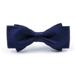 【拉福】大小翼精品中折領結新郎結婚領結糾糾(深藍)