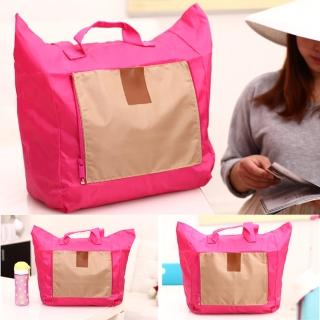 【E.City】旅行大容量防潑水折疊拉桿購物收納袋