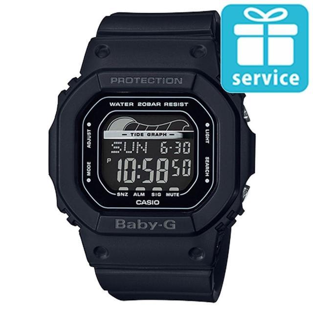 【CASIO 卡西歐】BABY-G 夏日海洋經典復刻運動腕錶-黑(BLX-560-1)