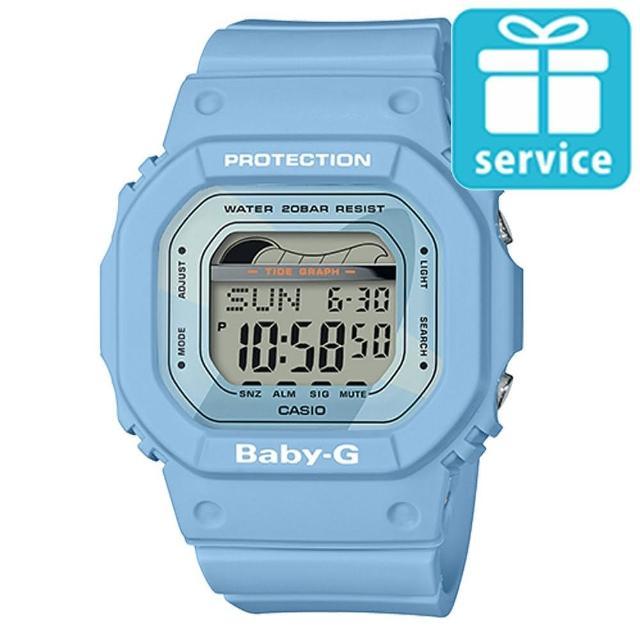 【CASIO 卡西歐】BABY-G 夏日海洋經典復刻運動腕錶-藍(BLX-560-2)