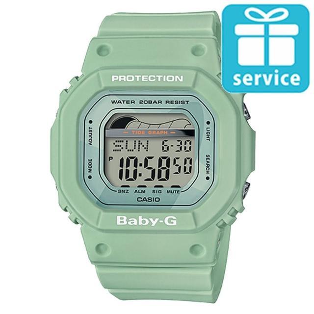 【CASIO 卡西歐】BABY-G 夏日海洋經典復刻運動腕錶-綠(BLX-560-3)