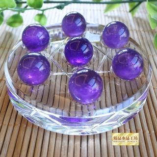 【精品水晶工坊】精品水晶工坊-開運旺旺紫水晶七星陣--(冰透紫水晶--促銷組)