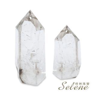 【Selene】開運能量白水晶柱(買一送一 L)