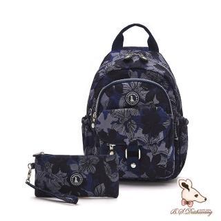 【冰山袋鼠】楓糖瑪芝-輕旅單肩後背兩用包+零錢包2件組(花繪風)
