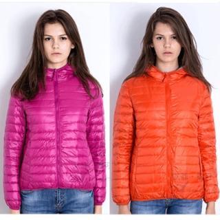 【SAMLIX 山力士】女兩面穿輕量羽絨衣#84118(玫紅.橘色)