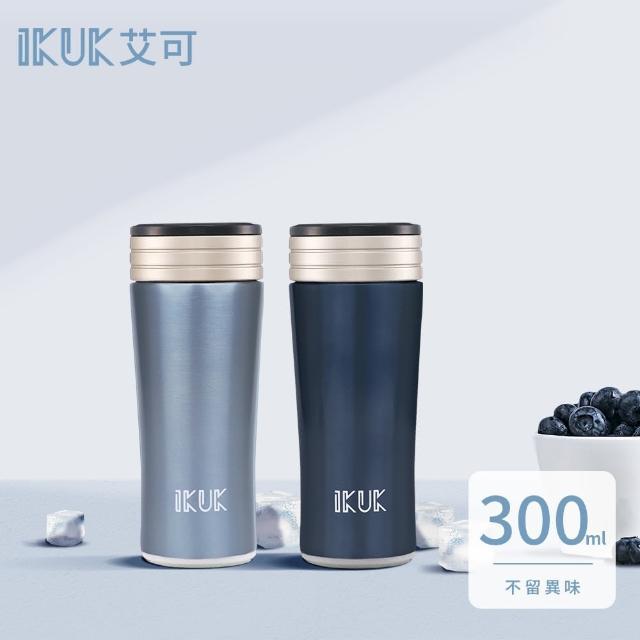 【ikuk 艾可】真空雙層內陶瓷保溫杯-300ml(台灣專利硬白瓷一體成型陶瓷內膽)