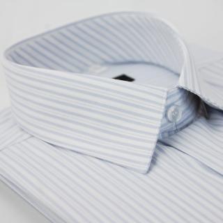 【金安德森】淡藍色寬細條紋長袖襯衫-fast