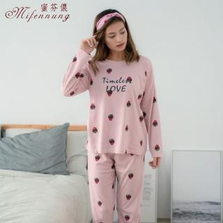 【MFN 蜜芬儂】草莓甜心棉質居家休閒服(粉色)