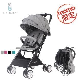 【L.A. Baby】隨行迷你嬰兒手推車(藍 灰 黑  紅)