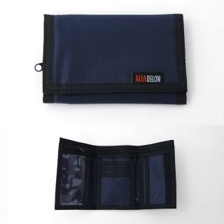 【玖飾時尚】藍底黑邊三折短夾(皮夾)