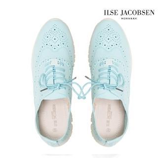 【ILSE JACOBSEN】女鞋 牛津鞋 優雅 LANE4190雕花輕量牛津鞋-淺藍(丹麥皇室品牌)