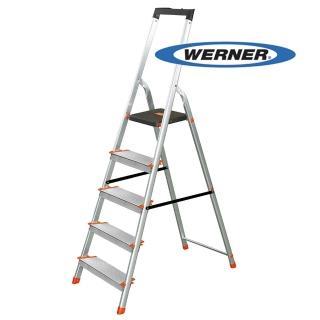 【WERNER】美國Werner穩耐安全鋁梯-L235R-2 鋁合金大平台5階家用梯/A字梯