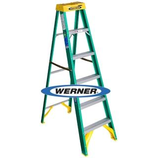 【WERNER】美國Werner穩耐絕緣梯-5906AS玻璃鋼單側人字梯/FRP梯