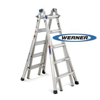 【WERNER】加贈站立平台-美國Werner鋁梯-MT-22 鋁合金伸縮式多功能梯/萬用梯