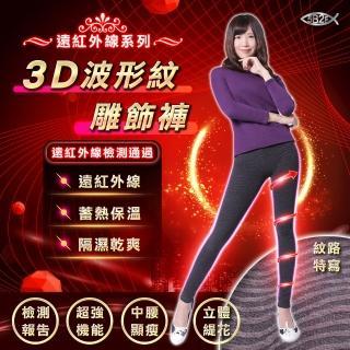 【5B2F 五餅二魚】遠紅外線3D波形紋雕飾褲(遠紅外線檢測報告 更安心)