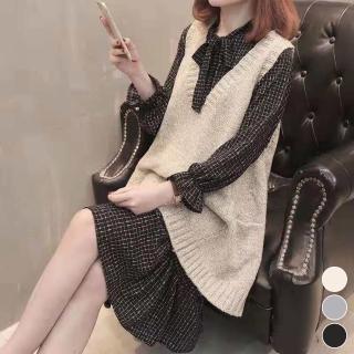 【MsMore】韓國網紅爆款寬鬆A-LINE版針織長背心103288現貨+預購(3色)