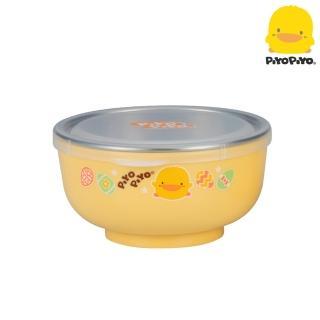 【Piyo Piyo 黃色小鴨】不鏽鋼雙層隔熱深餐碗(330ml)