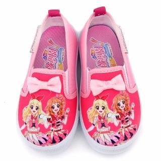 【童鞋城堡】蝴蝶結室內外休閒鞋 偶像學園(ID8915-桃)