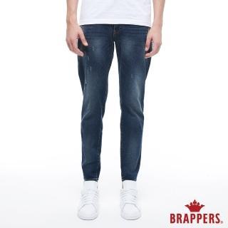 【BRAPPERS】男款 鬆緊帶窄管束口褲(藍)