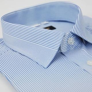 【金安德森】藍色變化領型窄版長袖襯衫-fast