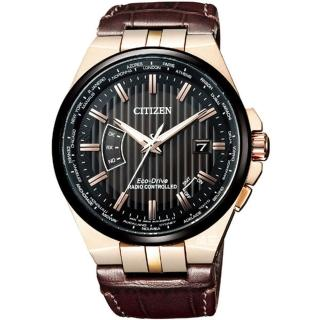 【CITIZEN 星辰】Eco-Drive光動能男爵皮帶腕錶(CB0164-17E)
