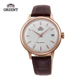 【ORIENT 東方錶】ORIENT 東方錶 DATEⅡ系列 機械錶 皮帶款 玫瑰金色 - 36.4mm(RA-AC0010S)