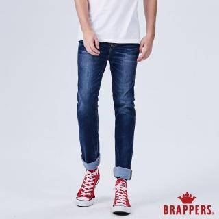 【BRAPPERS】男款 HM-中腰系列-彈性直筒褲(藍)