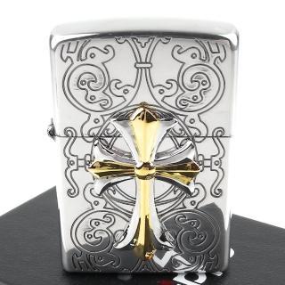 【Zippo】日系~Cross Combination -十字金屬貼飾打火機