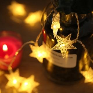 【願望滿星】發光滿天星 LED串燈 聖誕燈 派對 居家 陽台 兒童房 商業佈置 電池款(3米 20顆暖色燈)