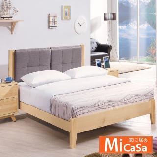 【MiCasa】凱西斯加大6尺布面實木床台