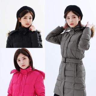 【遊遍天下】女款90%羽絨防風防潑水顯瘦長版可拆連帽外套GJ22012(M-3L)