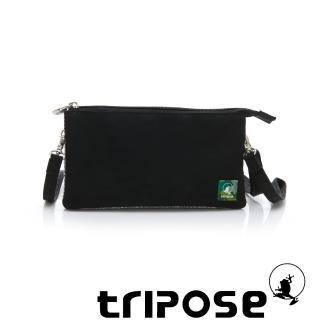 【tripose】漫遊系列岩紋簡約微旅手拿/側肩包(黑)