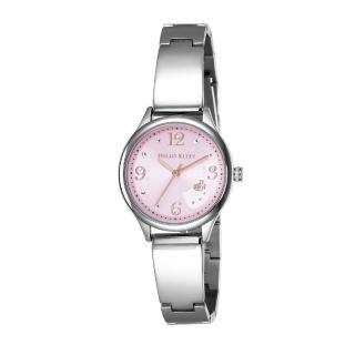 【HELLO KITTY】凱蒂貓 時尚星鑽手錶(粉紅/銀 LK705LWPA)