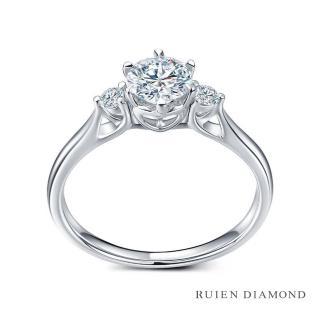 【RUIEN DIAMOND 瑞恩鑽石】GIA50分 D VS1 3EX(18K白金 三世之約 鑽石婚戒)