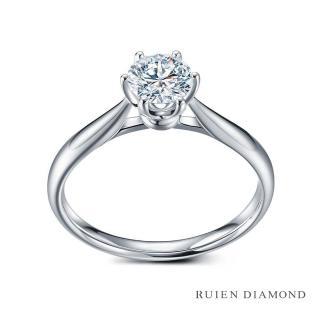 【RUIEN DIAMOND 瑞恩鑽石】GIA50分 D VS2 3EX(18K白金 花簇 鑽石婚戒)
