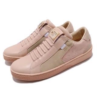 【ROYAL Elastics】休閒鞋 Adelaide 低筒 運動 女鞋 經典款 套腳 皮革 質感 穿搭 球鞋 粉 灰(92684777)