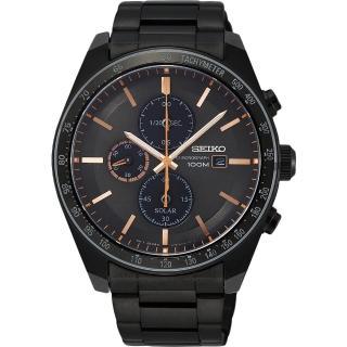 【SEIKO 精工】Criteria 太陽能台灣獨賣計時碼錶(V176-0AZ0O  SSC733P1)