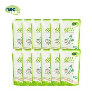 【nac nac】奶瓶蔬果洗潔精補充包(600mlx12入)