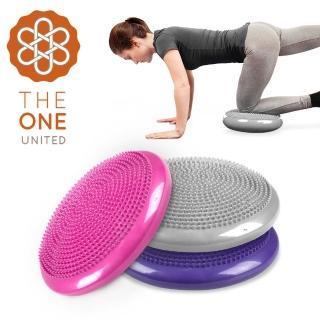 【The One】按摩顆粒瑜珈平衡盤/平衡氣墊(附打氣筒)