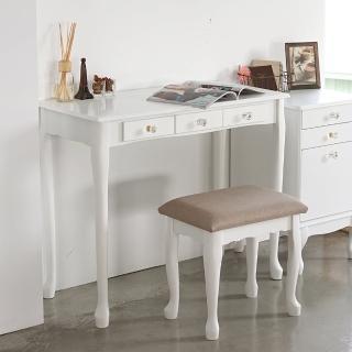 【樂活主義】公主風化妝桌椅套組/化妝台/化妝桌椅組/梳妝台(二色可選)
