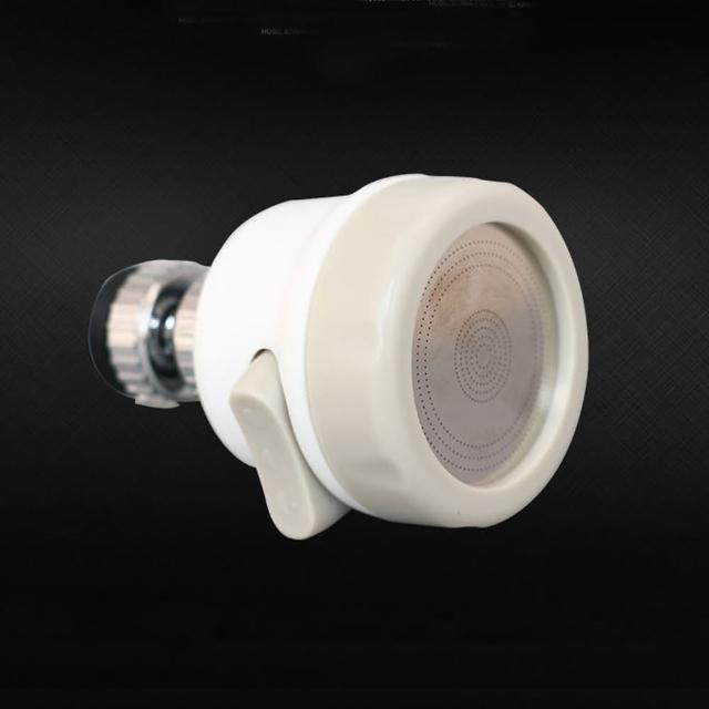 ABS 360度旋轉白色節水器(洗碗槽/洗臉盆皆適用/水龍頭起泡器)